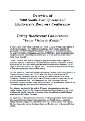 2000 South East Queensland Biodiversity Conference Overview