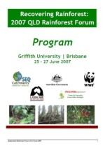 2007 Queensland Rainforest Forum Program