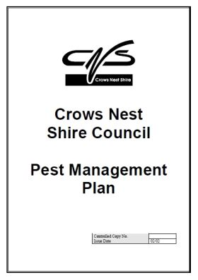 Crows Nest Shire Council Pest Management Plan