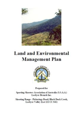 Land and Environmental Management Plan SSAA Shooting Range Lockyer Valley