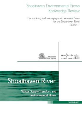 Shoalhaven Environmental Flows Knowledge Review