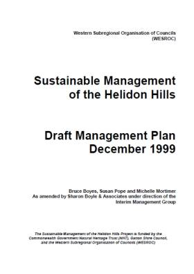 Helidon Hills Management Plan Dec 1999