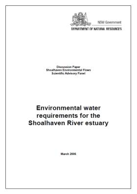 Environmental water requirements for the Shoalhaven River estuary
