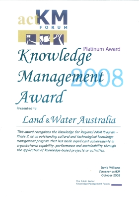 Knowledge for Regional NRM Program - Knowledge Management Award