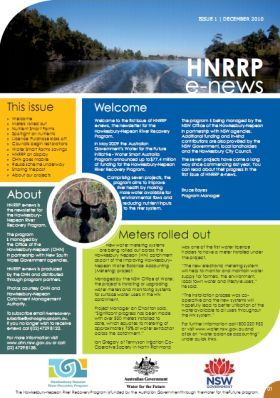 Hawkesbury Nepean River Recovery Program (HNRRP) e-news December 2010