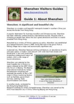 Shenzhen Visitors Guides, Guide 1 - About Shenzhen