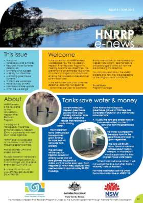 Hawkesbury Nepean River Recovery Program (HNRRP) e-news June 2011