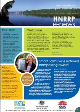 Hawkesbury Nepean River Recovery Program (HNRRP) e-news September 2011
