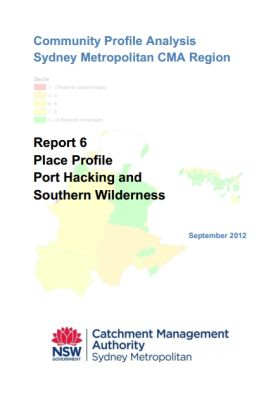 SMCMA Community Profile Analysis - Report 6 Port Hacking and Southern Wildeness