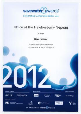 OHN HNRRP Savewater Award