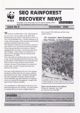 SEQ Rainforest Recovery News Issue 5