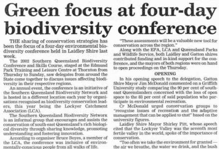 Southern Queensland Biodiversity Conferences