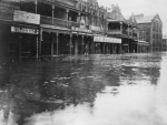 Flooded street in Toowoomba, 1906